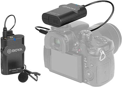 BOYA by-WM4 Mark II Micrófono de lavalier inalámbrico Universal ...