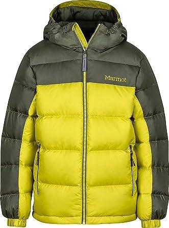 0d3b2a297 Marmot Boys' Guides Down Hoody - Yellow -: Amazon.co.uk: Clothing
