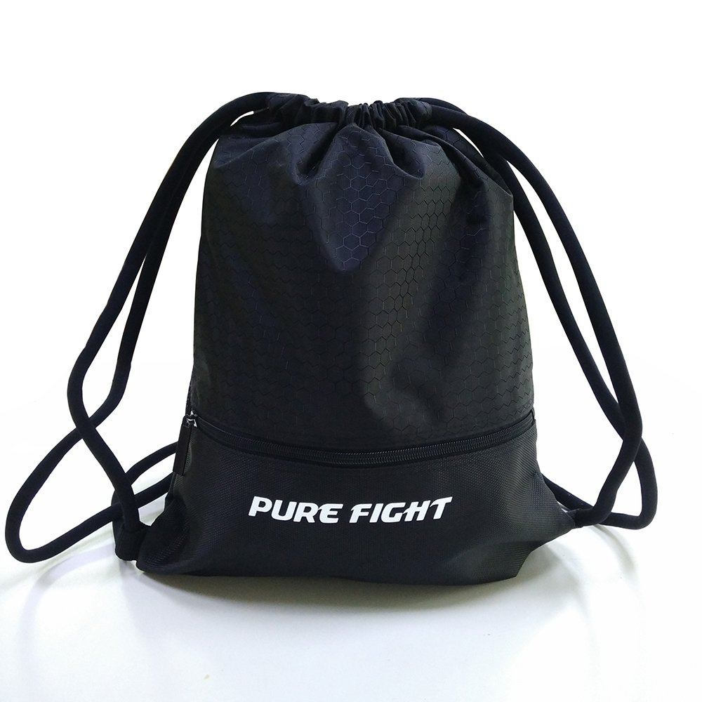 Waterproof Drawstring Backpack Bags Large gym bags Sports bags for Sport Traveling Basketball Boxing Yoga (Black)