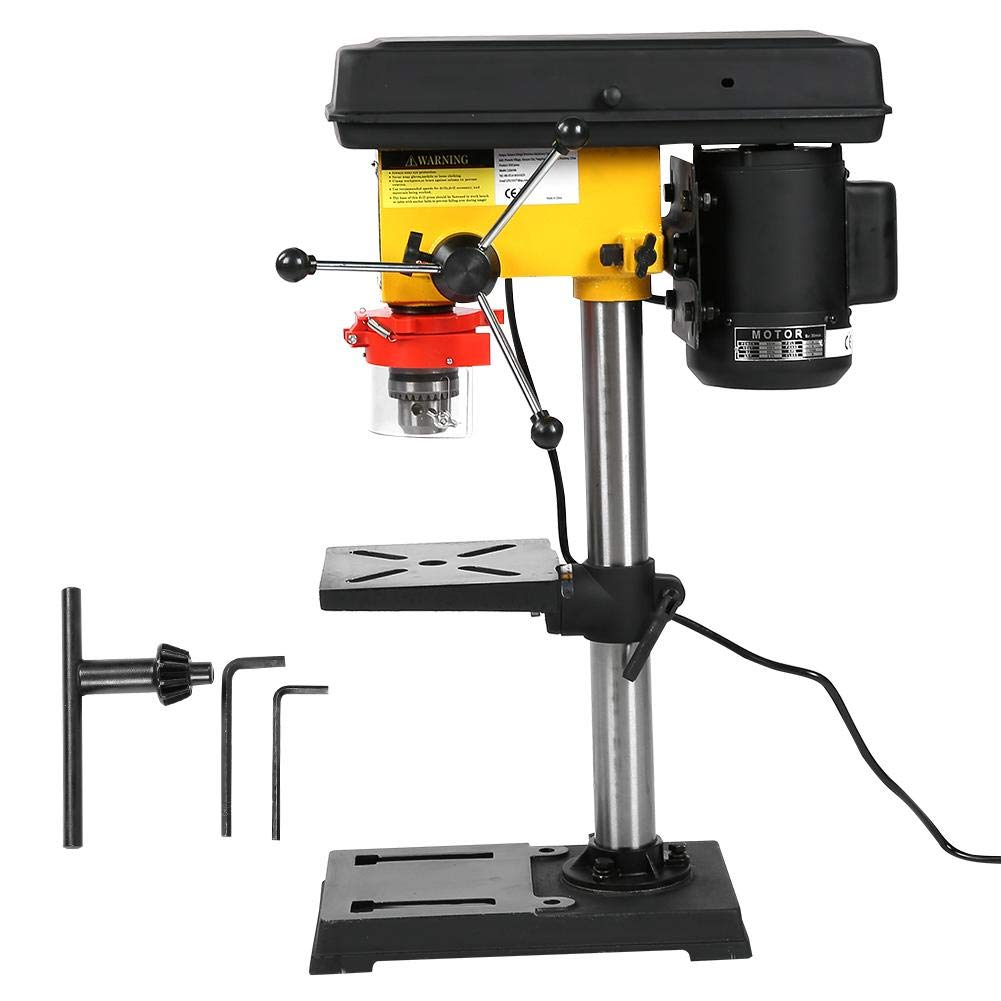 Drill Press, 500W Industrial 9 Grade Speed and Depth Adjustable Bench Drill Press US Plug 110V 400~2500RPM by AYNEFY