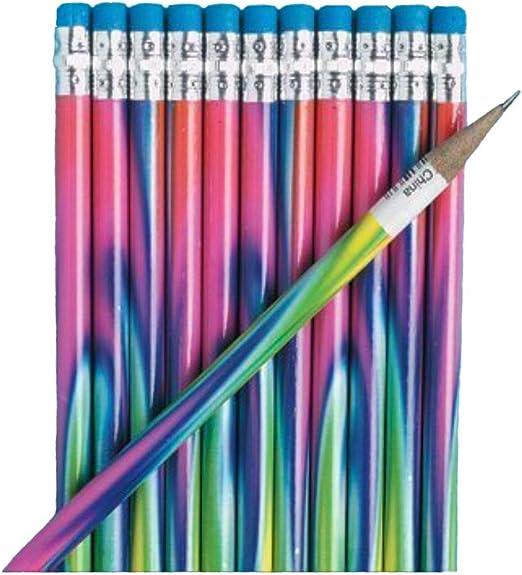 Birthday 24 Pieces Printed Pencils Stationery Pencils Fun Express Cupcake Pencils for Birthday