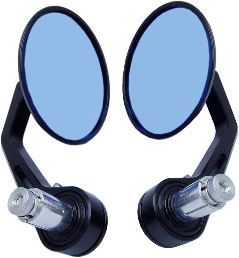 Universal Bar End Mirrors Motorcycle Handlebar Mirrors 7/8 Handle Round Compatible with Aprilia, BMW, Buell, Ducati, Harley Davidson, Honda, Indian, Kawasaki, KTM, Suzuki, Triumph and Yamaha Black