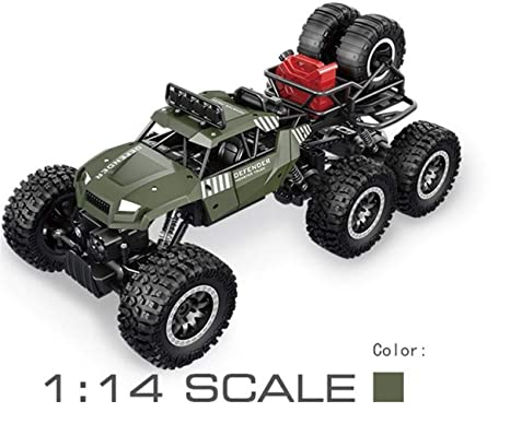Topromise 6WD RC Cars, 1/14 Scale 2.4Ghz High Speed Electric Remote Control