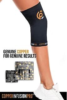 393c286b7d Copper Infusion Pro Copper Compression Knee Sleeve Support Brace-Arthritis  Meniscus Tear Patella Protector-