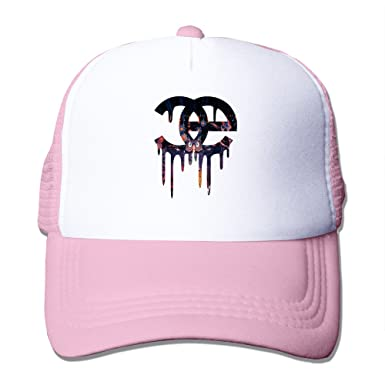 d1383a8a EDM Rave Snapback Mesh Baseball Caps Black - Pink -: Amazon.co.uk: Clothing