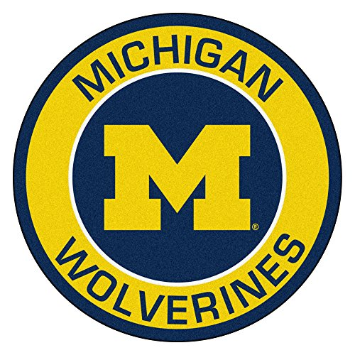 FANMATS 18619 University of Michigan Roundel (Michigan Rug)
