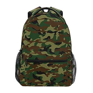 ZZKKO Mochilas militares de camuflaje para colegio, libro, viajes, senderismo, acampada, mochila: Amazon.es: Deportes y aire libre