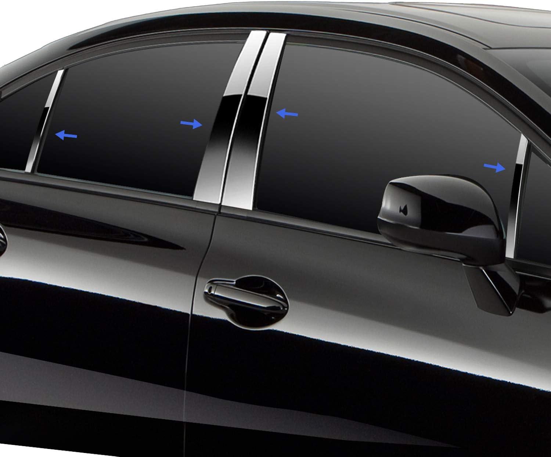 TYGER Fits 03-07 Honda Accord 6PC Stainless Steel Chrome Pillar Post Trim