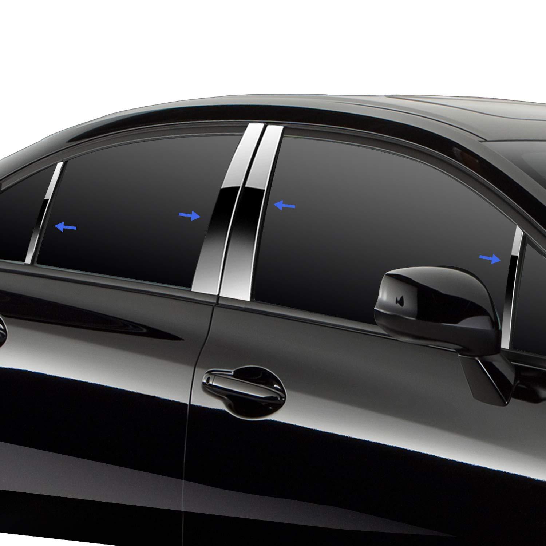 Tyger Auto Made in USA Works with 2016-2018 Lexus RX W//Triangle//Diagonal Piece Chrome Pillar Post Trim 8PC