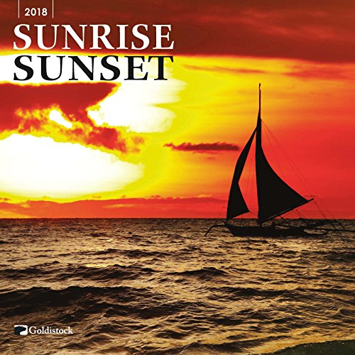 "Goldistock ""Sunrise Sunset"" Eco-friendly 2018 Large Wall Calendar - 12"" x 24"" (Open) - Thick & Sturdy Paper - Inspiring Moments Captured"