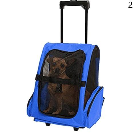Snow Island - Mochila portátil para transportar mascotas, perro, gato, viaje, rueda
