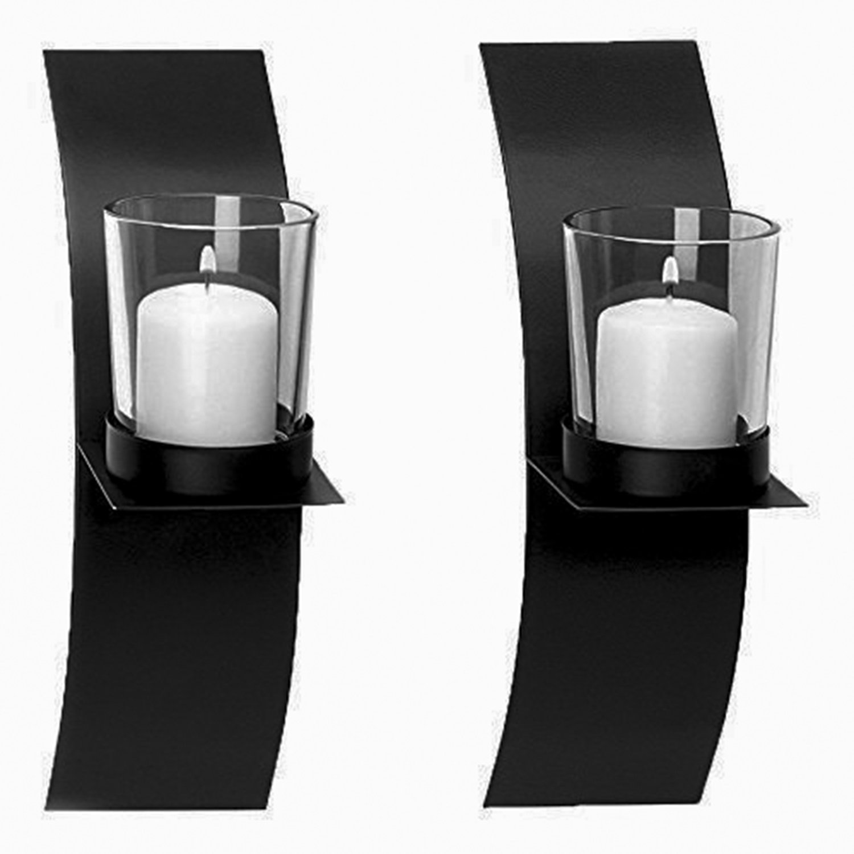 Adorox Candle Holder Modern Minimalist Art (Sconces Holder) ADX232_FBA