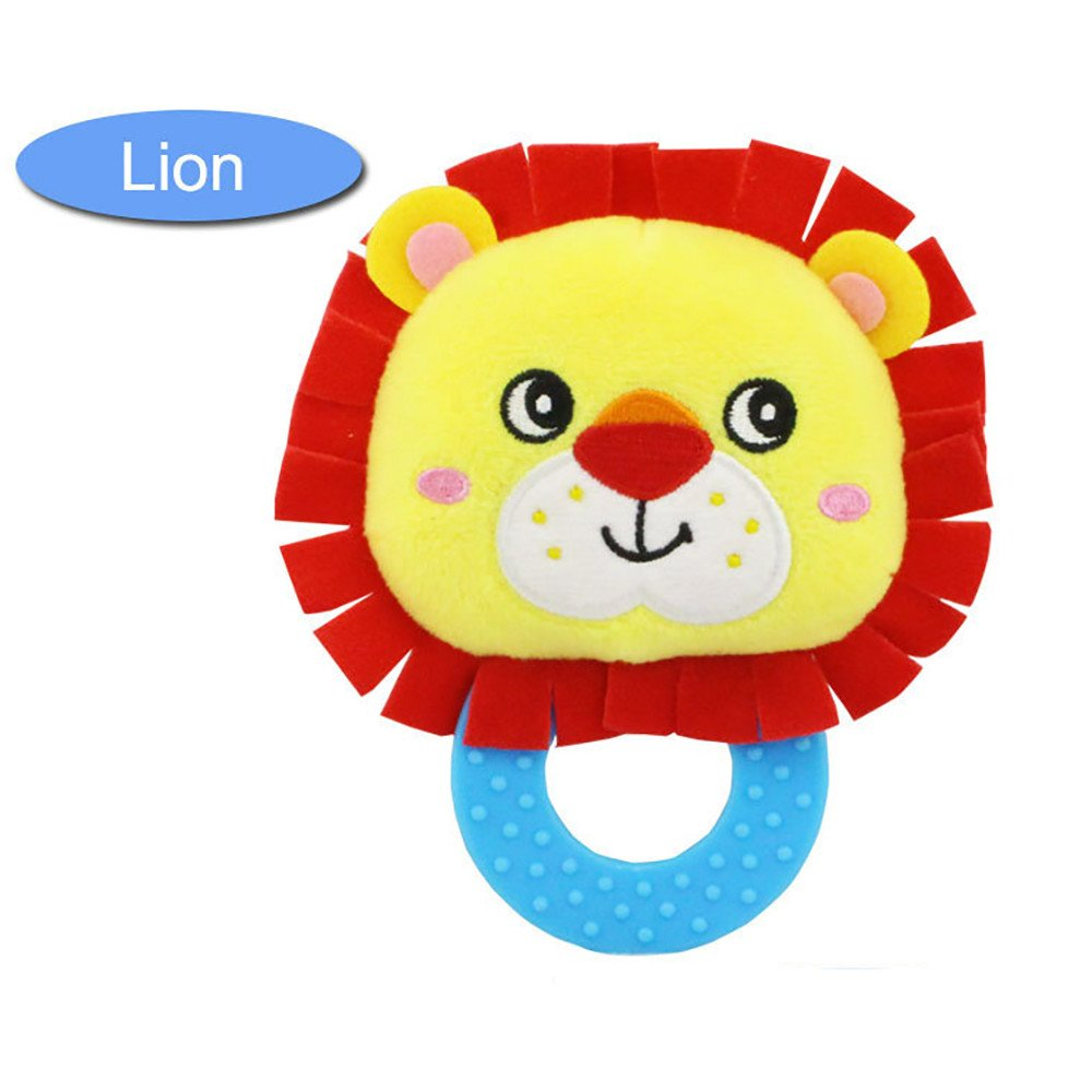 IAMUP Toddler/Little Kid Rattles Toy Hand Bell Toddler Infant Rings Interactive Cute Animal Plush New Gift Toys