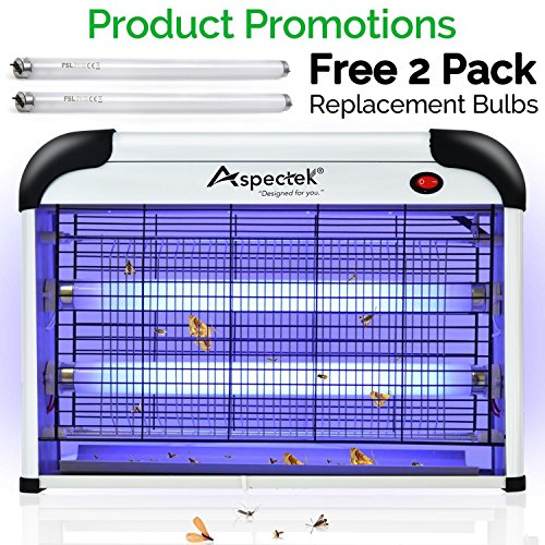 Aspectek Powerful 20W Electronic Indoor Insect Killer, Bug Zapper, Mosquito Killer