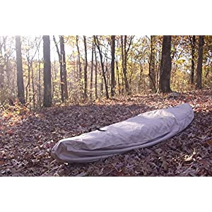 VORTEX TAN 16.5', 17', 17.5', 18', 'WATERGUARD' Pudgy DUTY WATERPROOF CANOE/KAYAK COVER, FOR UP TO 18' LONG, AND FOR UP TO 8 ' GIRTH (FAST SHIPPING - 1 TO 4 BUSINESS DAY Childbirth)