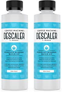 Descaler (2 Pack, 2 Uses Per Bottle) - Made in the USA - Universal Descaling Solution for Keurig, Nespresso, Delonghi and All Single Use Coffee and Espresso Machines