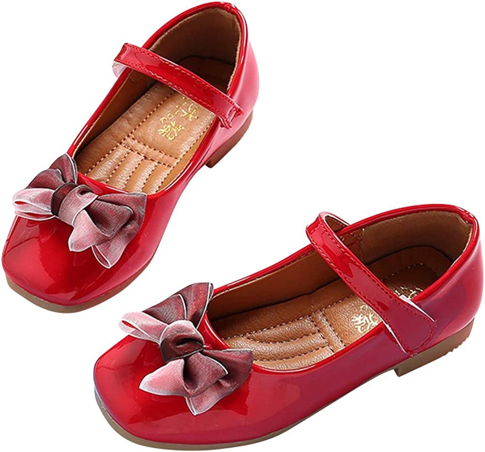 Filles Chaussures habill/ées l/éger Respirant Mignon Bowknot Mary Janes Appartements f/ête de Mariage Enfants Princesse Chaussures de Danse