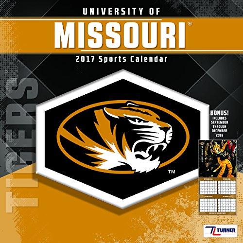 Turner Licensing Sport 2017 Missouri Tigers Team Wall Calendar, 12