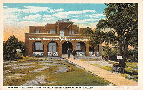 Grand Canyon National Park Arizona Verkamps Souvenir Store Postcard J60485