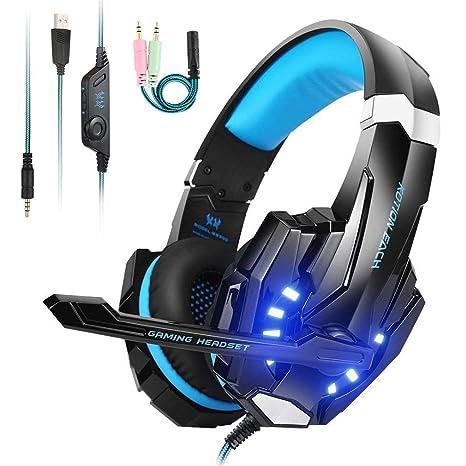 Cuffia Gaming con Microfono   LED Luce   Regolatore di Volume Cuffie da  Gioco con Stereo f272897ea5e7