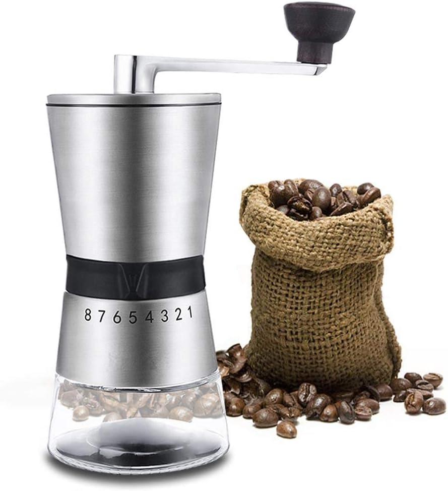 AWFAND Molinillo de café manual, mini molinillo de café portátil ...