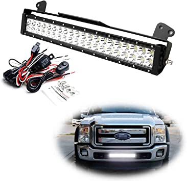 ford f350 headlight switch wiring amazon com ijdmtoy lower grille 20 inch led light bar compatible  lower grille 20 inch led light bar
