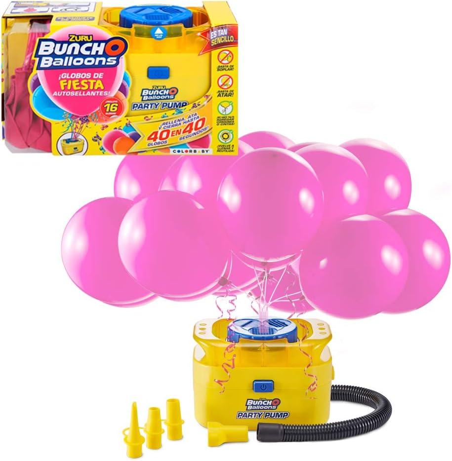 X-Shot - Hinchador eléctrico con 16 globos de fiesta autosellantes ...