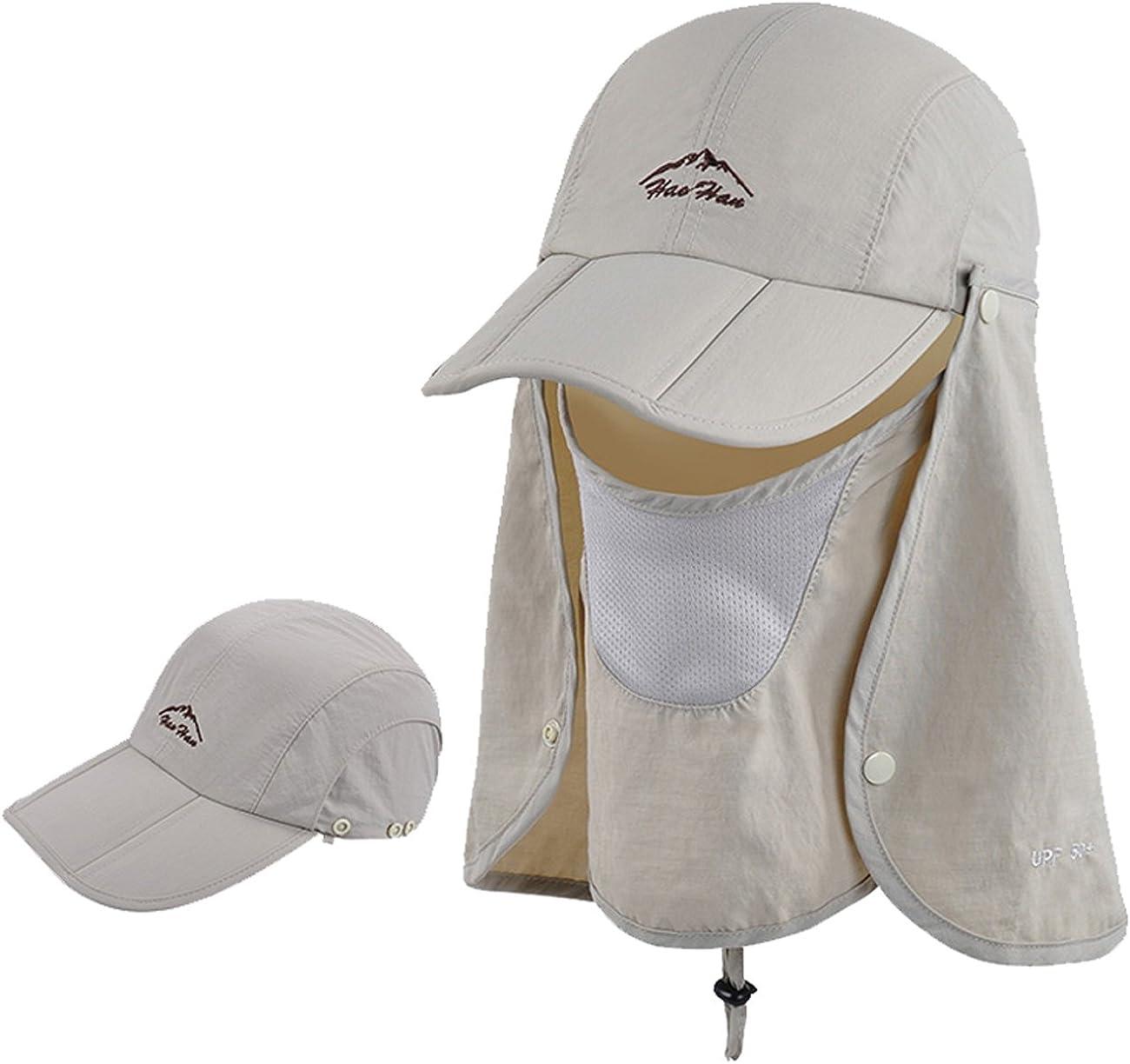 Epsion Women Summer Neck Flap Sun Visor/Hats Wide Brim UV Protection UPF 50+ Hiking Cap Adjustable