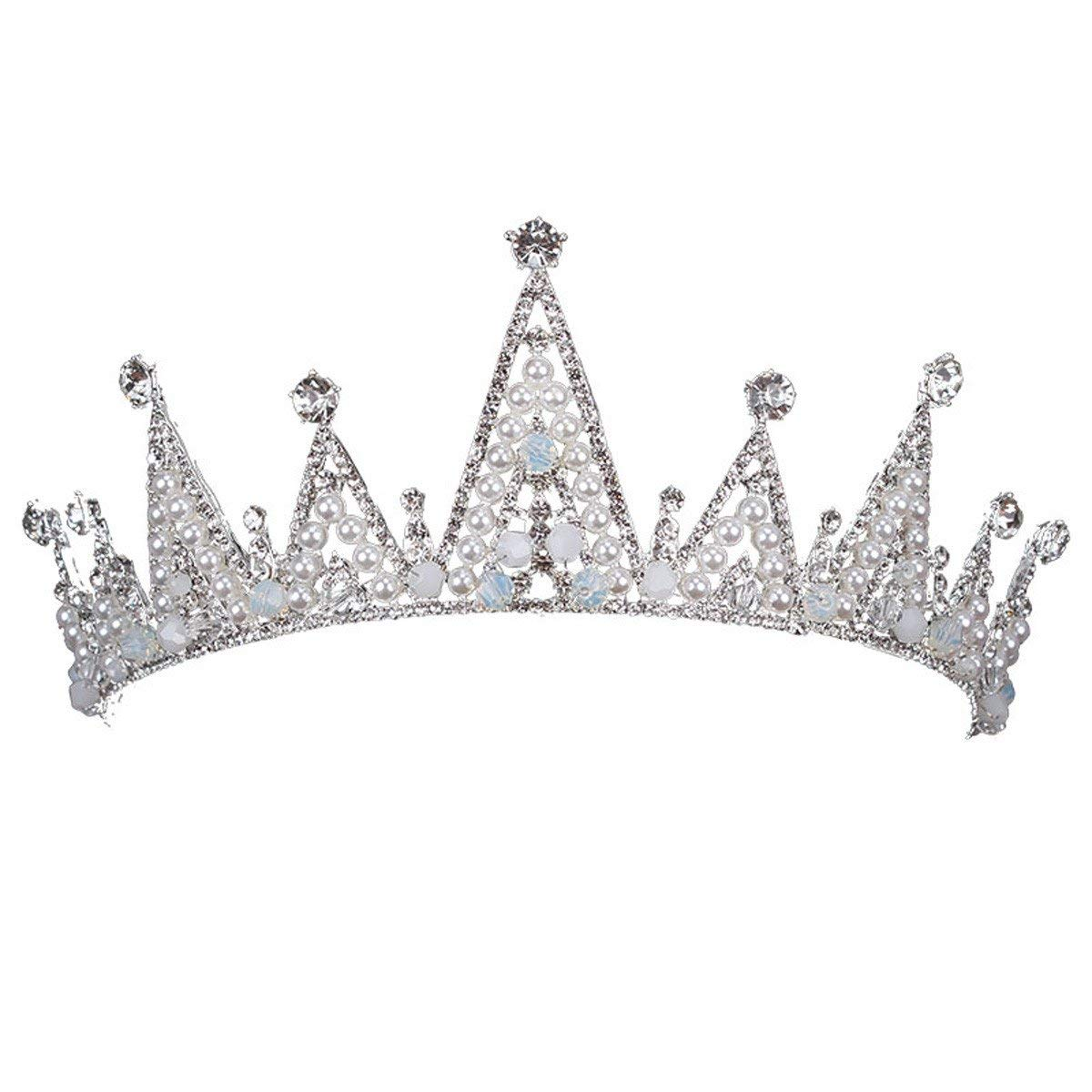 Crystal Crown, New Crown Ornaments Bridal Pearl Crown Crystal Princess Crown Wedding Dresses Dresses And Accessories.