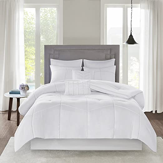 Amazon.com: 510 DESIGN Codee 8 Piece Comforter Set White Queen