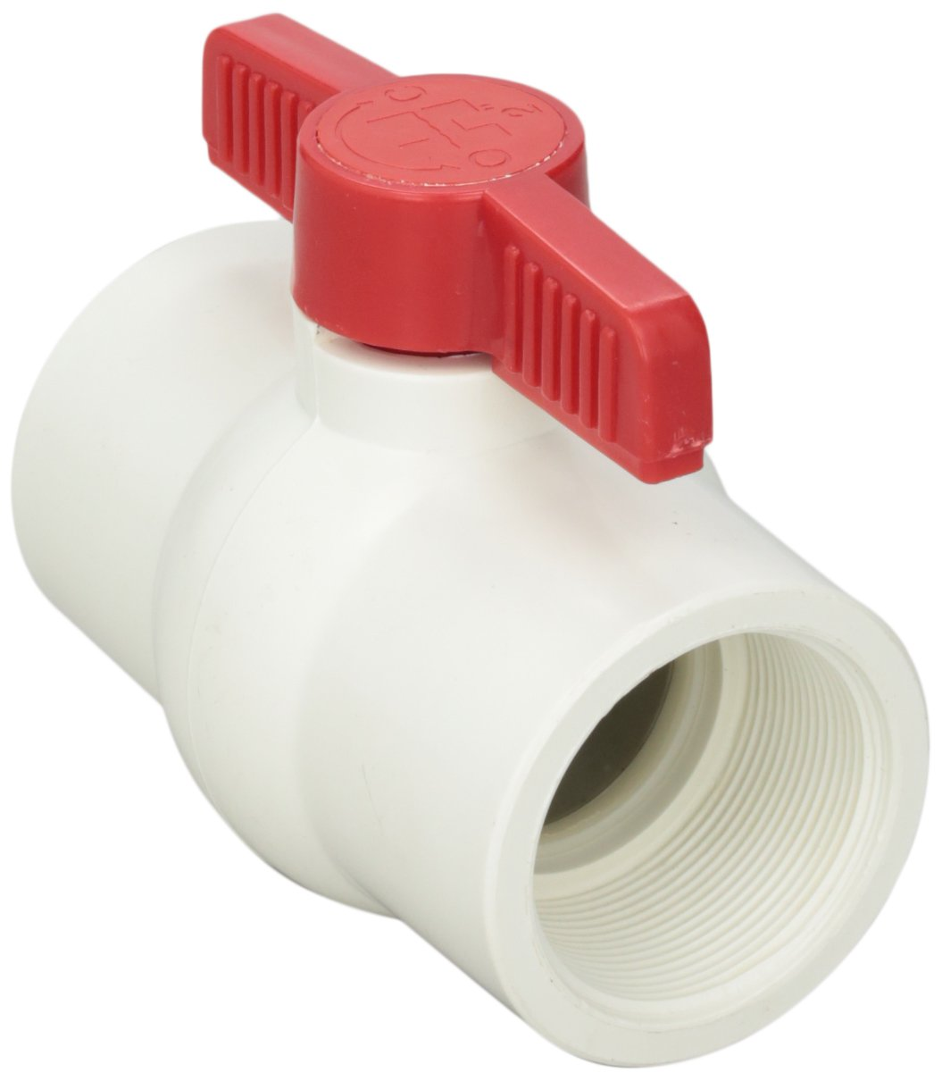 Hayward QVC1020TSEW 2-Inch White QVC Series Compact Ball Valve with Threaded End Connection Hayward - Distribution