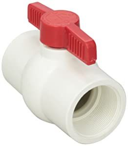 Hayward QVC1020TSEW 2-Inch White QVC Series Compact Ball Valve with Threaded End Connection