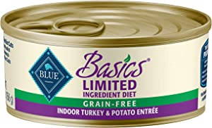 Blue Buffalo Basics Limited Ingredient Diet, Grain Free Natural Adult Pate Wet Cat Food