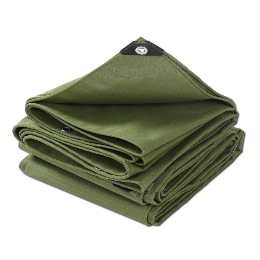 CHAOXIANG オーニング 厚い キャンバス 両面 防水 耐寒性 アンチサン シェード 耐摩耗性 耐引裂性 耐食性 防塵の シリコンクロス 緑、 600g/m 2、 厚さ 0.73mm、 16サイズ (色 : 緑, サイズ さいず : 5×5m) B07DC4SWP3 5×5m|緑 緑 5×5m