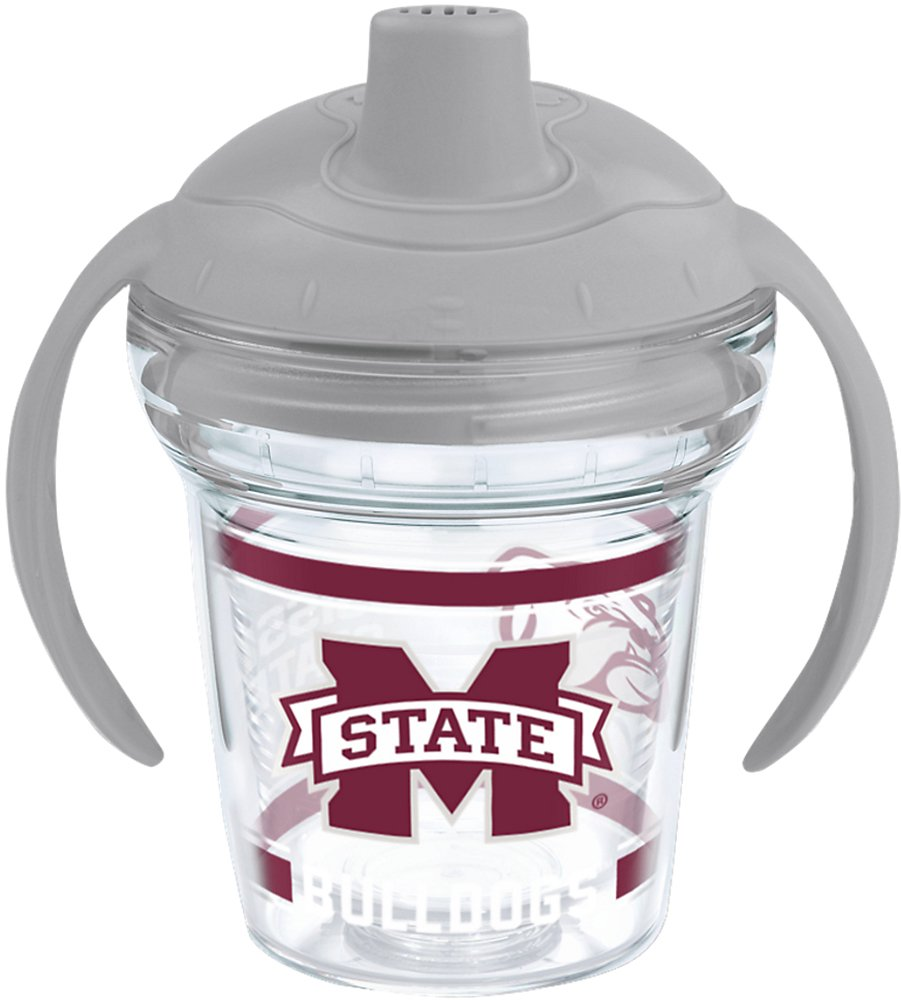 Tervis 1203880 Mississippi State Bulldogs Insulated Tumbler with Wrap and Moon Dust Gray Lid 6Oz My First Treves Sippy Cup Clear
