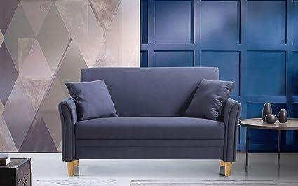 Amazoncom Divano Roma Furniture Modern 2 Tone Small Space Linen