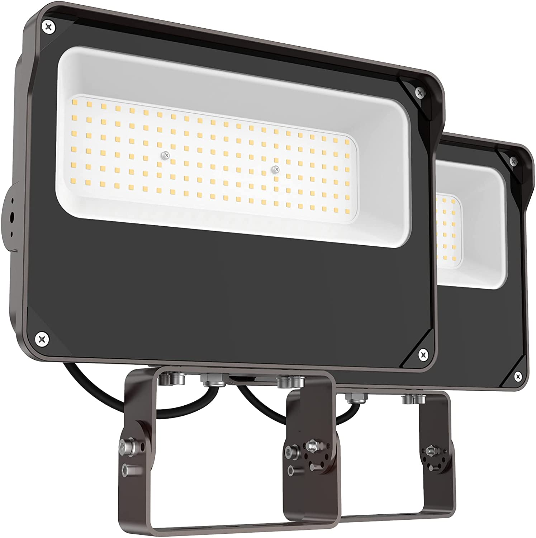 HYPERLITE LED Flood Light 150W 18000LM 5000K Daylight IP65 Waterproof Outdoor Floodlights UL Certified for Court,Garden,Warehouse 2 Packs