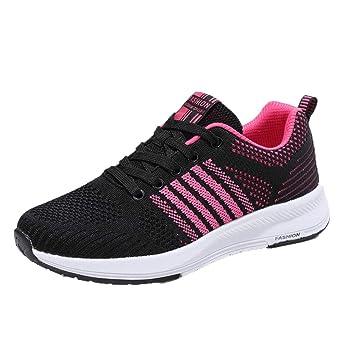JiaMeng Zapatillas Deportivas livianas de Gimnasio para Correr Zapatos Transpirables onales de Deporte Mujer Zapatos para Correr Athletic Zapatos para ...