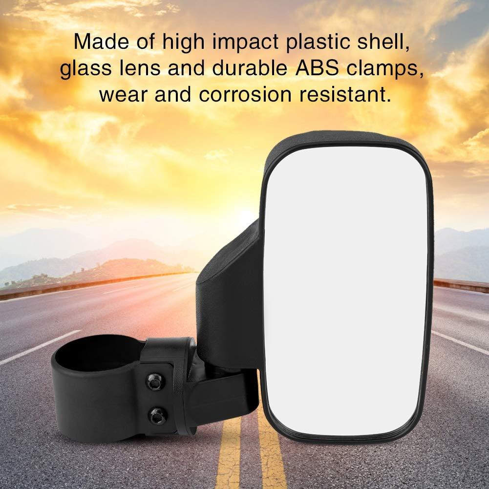 Adjustable Motorcycle Side Rear View Mirror with 1.75 /& 2 Mounts Convex Design for UTV Polaris Ranger RZR Can-Am Maverick Aramox Side Mirror
