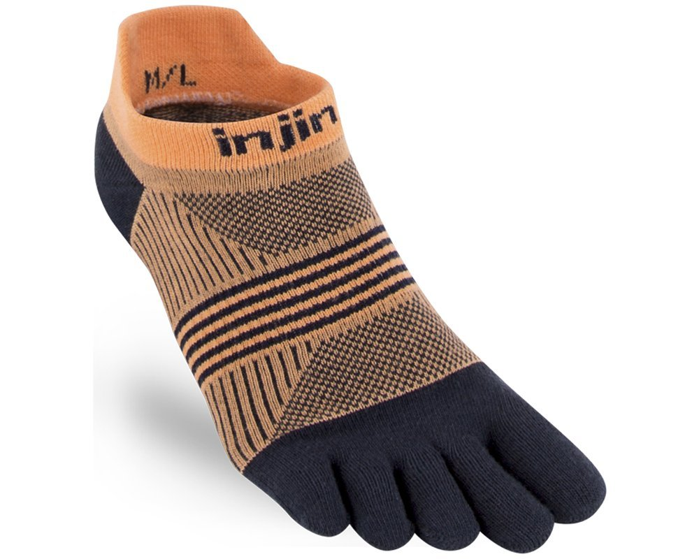 Injinji Womens Run Lightweight No-Show Toesocks 201111BEM//L