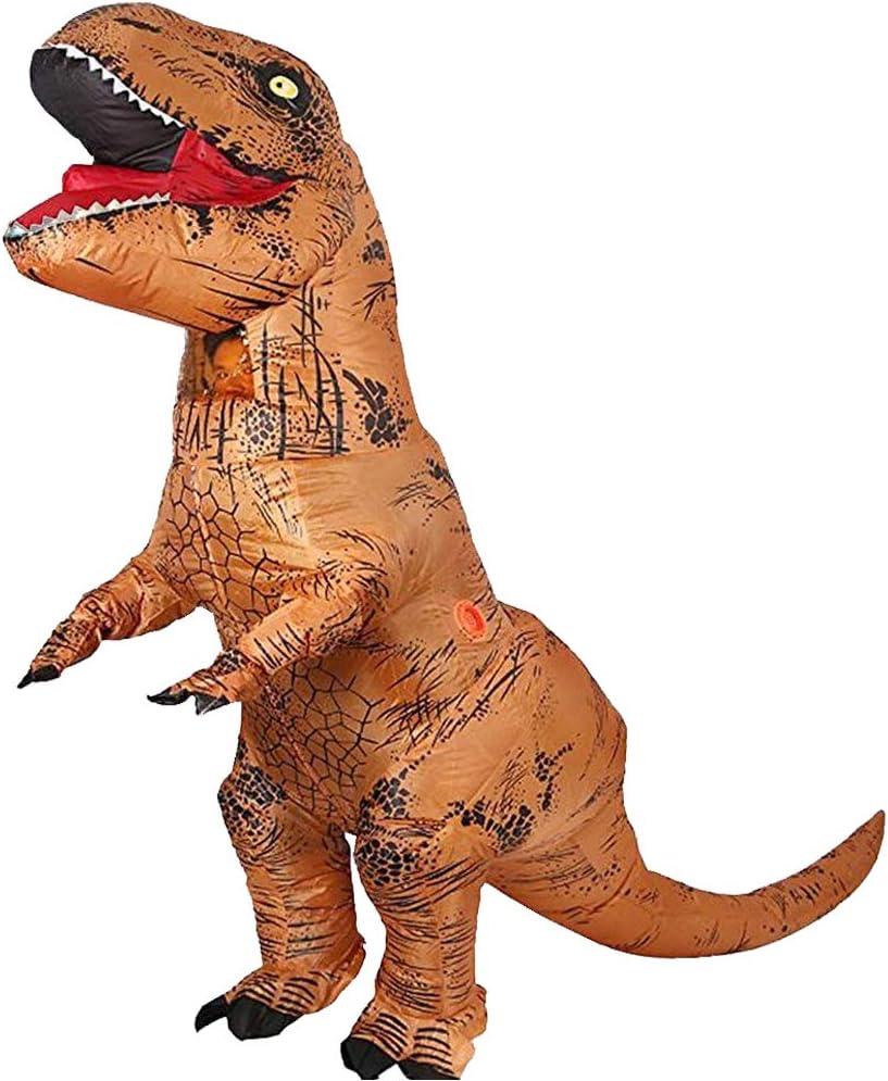 JASHKE Disfraz Inflable T-Rex Dinosaurio Adulto Disfraz Cosplay ...