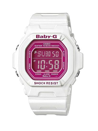 Casio BABY-G - Reloj digital de mujer de cuarzo con correa de resina blanca (cronómetro, alarma, luz) - sumergible a 100 metros: Amazon.es: Relojes