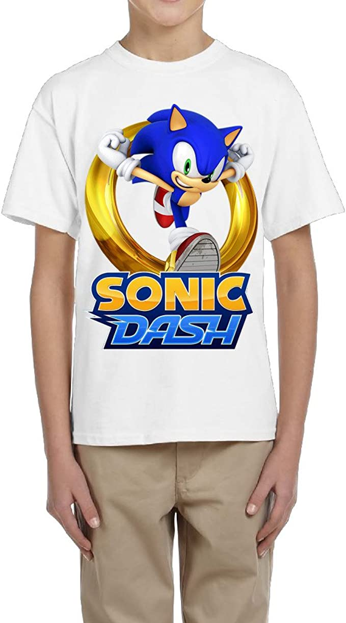 Amazon Com Zhen Kids Sonic The Hedgehog Sonic Dash T Shirt Clothing