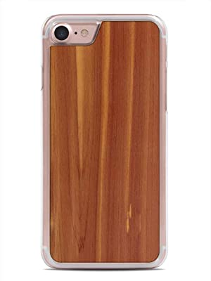 iPhone 7 Cedar Wood Clear Case by Carved, Unique Real Wooden Phone Cover (Clear, Fits Apple iPhone 7)