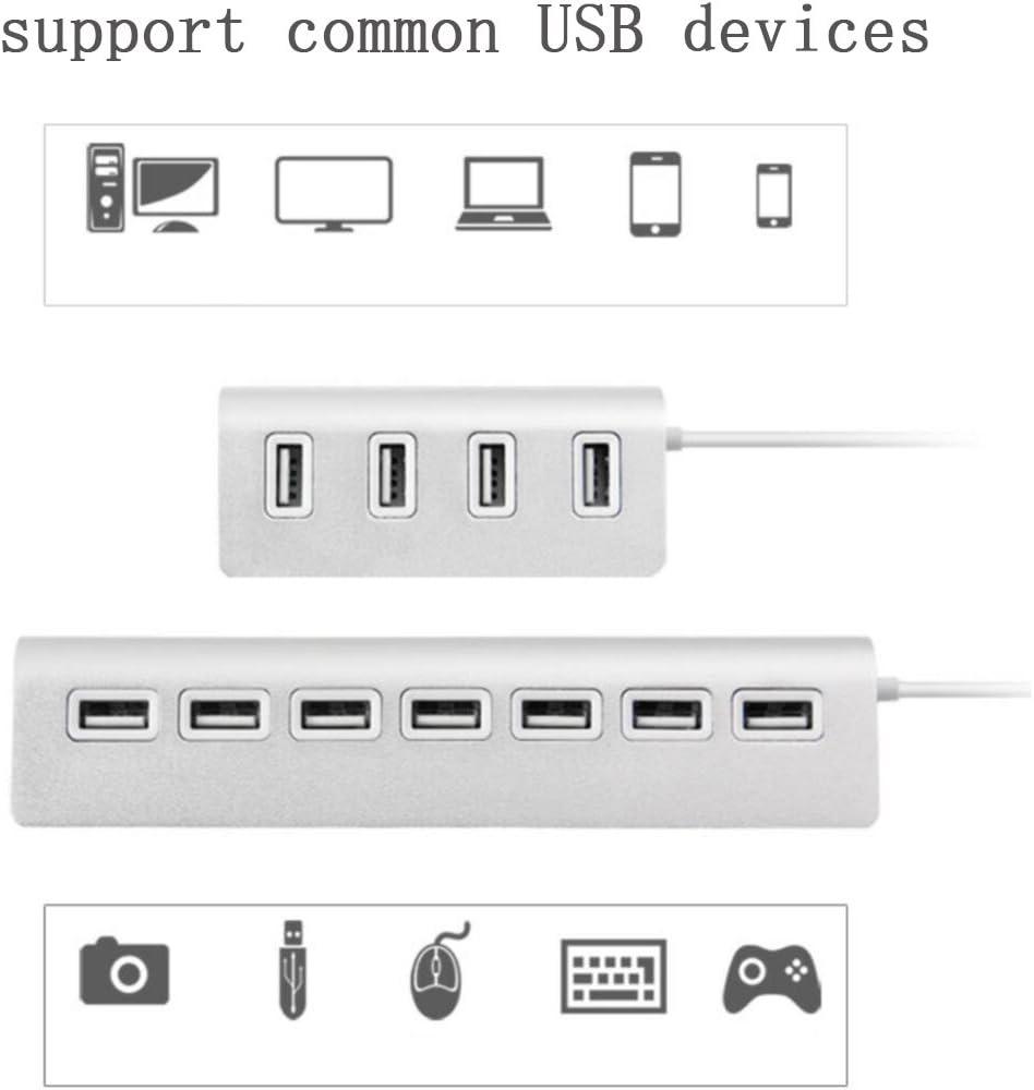 4-Port USB 2.0 Multi HUB Splitter Expansion Adapter High Speed For PC Laptop Mac 4Port