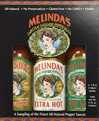 Melinda's Habanero Hot Sauce Gift Set, 15 fl oz by Melinda's