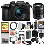 Panasonic Lumix DC-GH5 Wi-Fi 4K Digital Camera & 12-60mm f/2.8-4.0 with 45-150mm Lens + 128GB Card + Backpack + Flash + Video Light + Battery + Kit