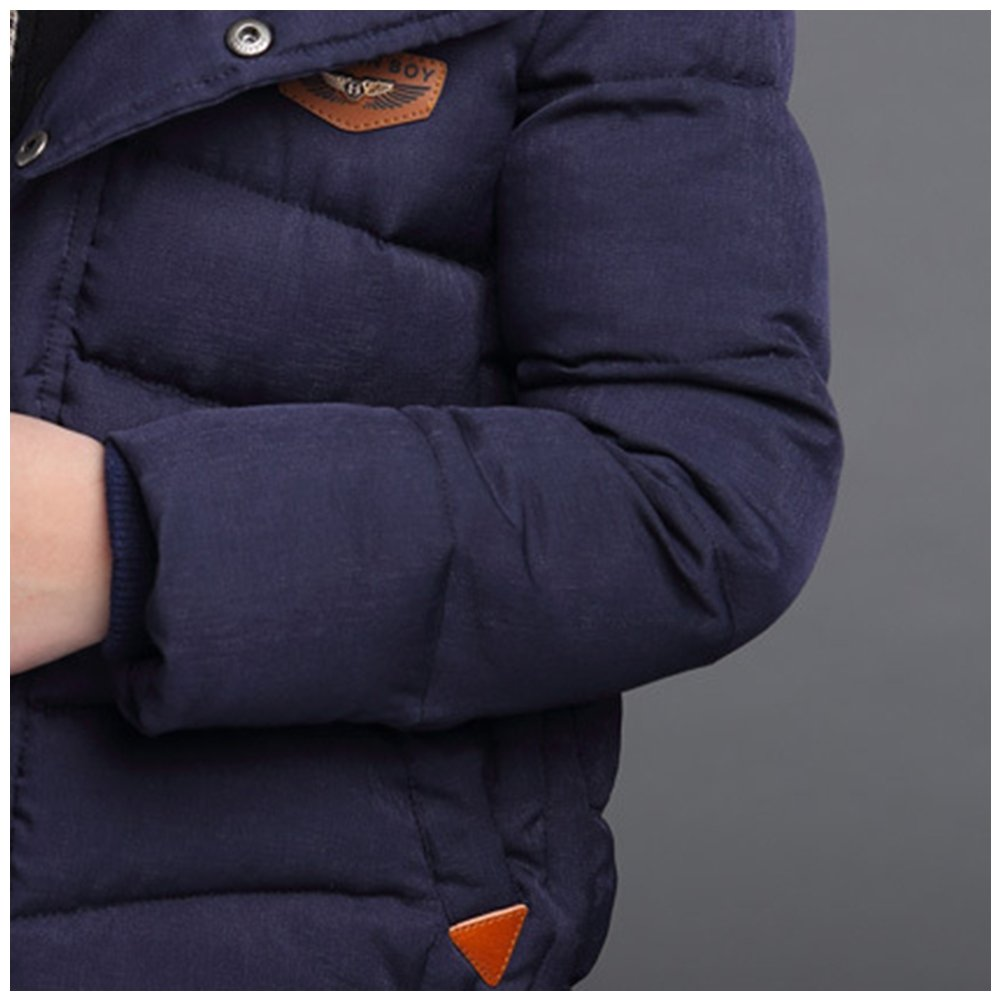 M/&A Boys Packable Hooded Puffer Jacket Windproof Winter Down Coat