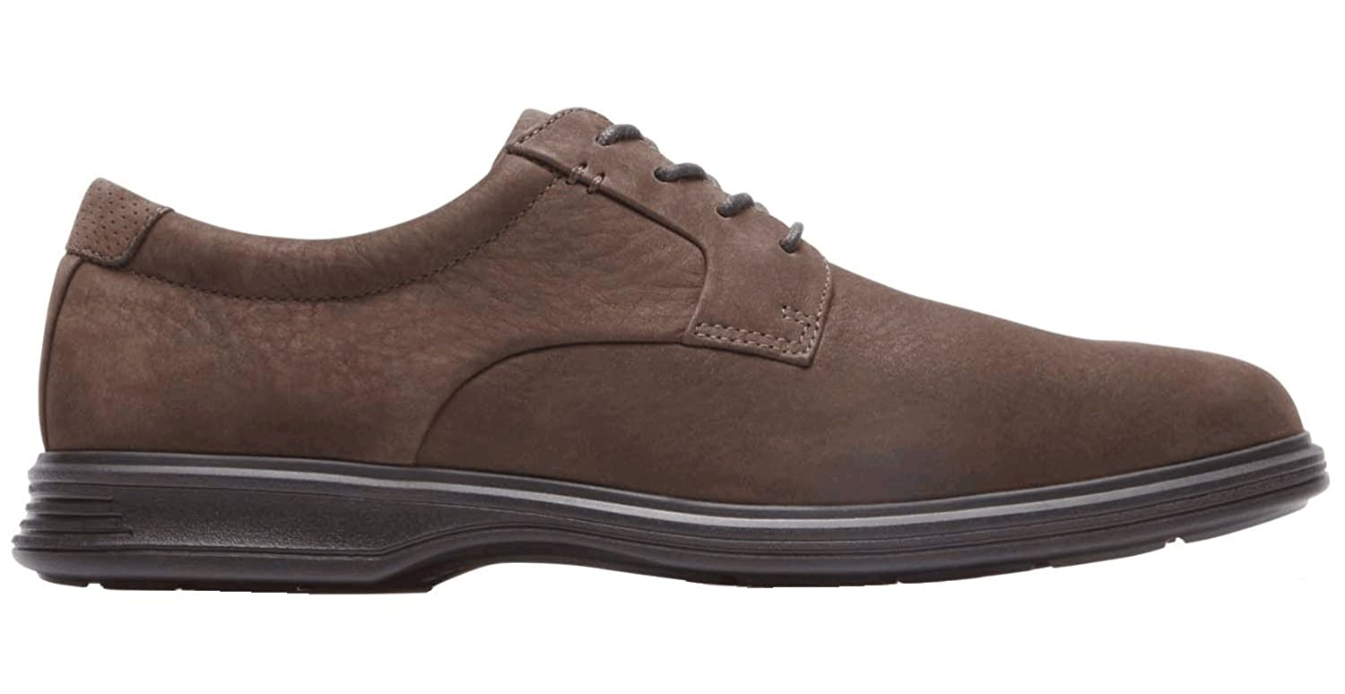 Rockport DresSports Lite Plaintoe 2 Oxford - Zapatos con cordones de pala lisa hombre, color Marron.