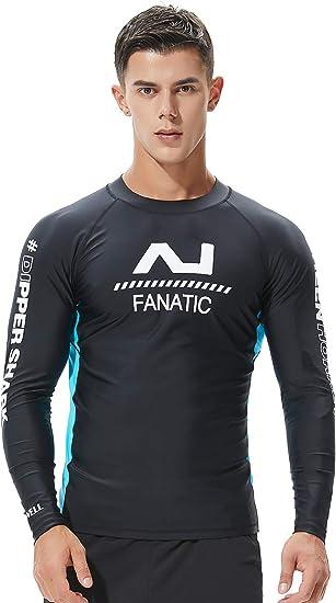 SEOBEAN TAUWELL Mens Long Sleeve Rash Guard Swimwear Surfing Shirt
